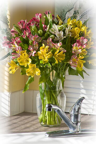 Kitchen Bouquet by Kathleen  Bowman