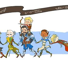 Dragon Age Inquisition chibis by enrychan