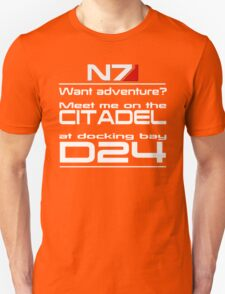 Mass Effect - Meet me on the Citadel Unisex T-Shirt