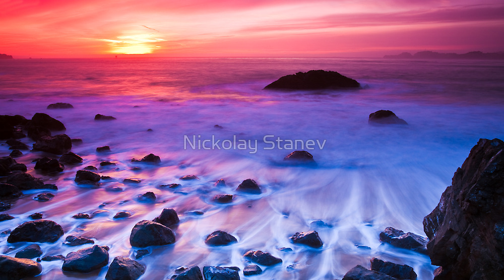 Beach Sunset by Nickolay Stanev