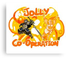 Jolly Cooperation! Canvas Print