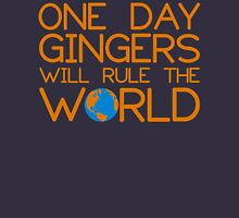 Funny Ginger Hair T Shirt - One Day Gingers Will Rule The World Womens T-Shirt