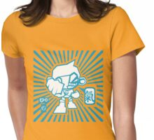 poW*! (blue) Womens Fitted T-Shirt