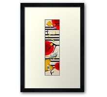 birds on my skateboard Framed Print