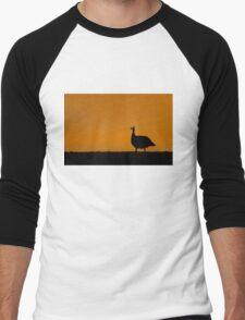 Guinea Fowl Sunset - Etosha NP Namibia. Men's Baseball ¾ T-Shirt