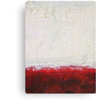 Simply Red 4 - mixed media abstract painting on canvas  Canvas Print
