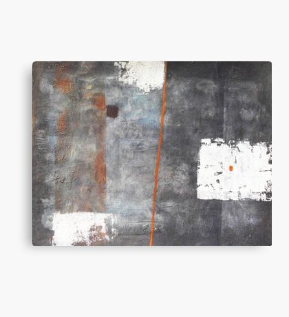 Perception of an object - abstract mixed media on canvas Canvas Print