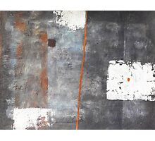 Perception of an object - abstract mixed media on canvas Photographic Print