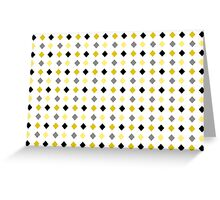 Black and Gold Abstract Pattern Greeting Card