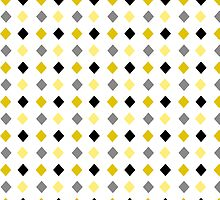 Black and Gold Abstract Pattern Art by Christina Rollo