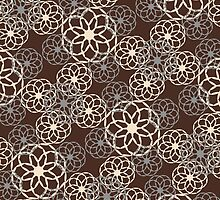 Brown and Silver Floral Pattern by Christina Rollo
