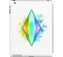 Rainbow Plumbbob Grunge iPad Case/Skin