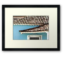In the middle of town  Framed Print