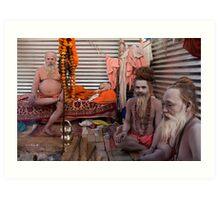 Sadhus. Allahabad Art Print