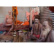 Sadhus. Allahabad Photographic Print