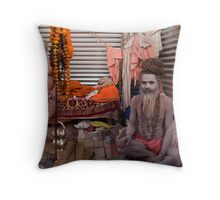 Sadhus. Allahabad Throw Pillow