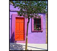 That purple door, Ribera, Barcelona Spain Photographic Print