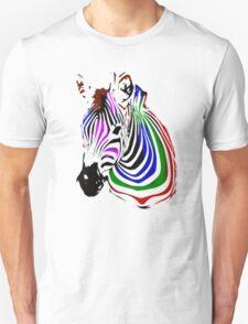 technicolour zebra T-Shirt