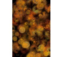Copper Spiral Abstract Art Photographic Print