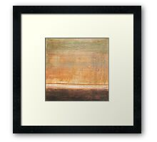 Wherever we go - abstract oil painting on canvas Framed Print