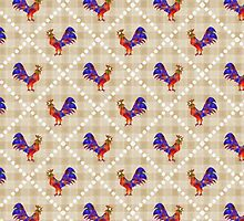 Rooster Pattern by Christina Rollo