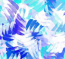 Blue Abstract Paint Pattern by Christina Rollo