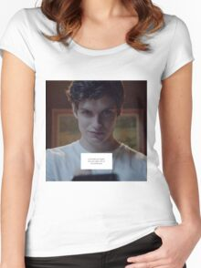 Isaac Lahey - Motel California Women's Fitted Scoop T-Shirt