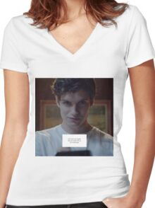 Isaac Lahey - Motel California Women's Fitted V-Neck T-Shirt