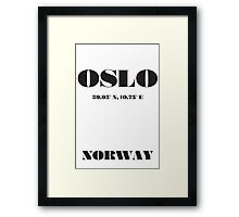 OSLO Norway Typography Framed Print