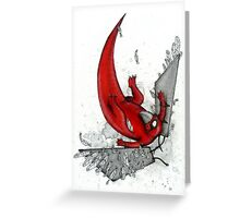 Falling Beakface Greeting Card