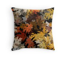 Oak Leaf Abstract Throw Pillow