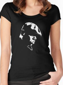 Eazy E Black And White Stencil Women's Fitted Scoop T-Shirt
