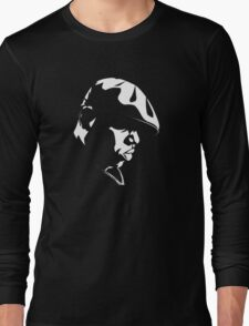 Eazy E Black And White Stencil Long Sleeve T-Shirt