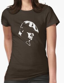 Eazy E Black And White Stencil Womens Fitted T-Shirt