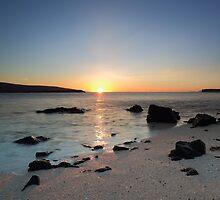 Coral Beach at Sunset by Maria Gaellman