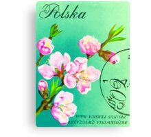 Polska Floral Print  Canvas Print