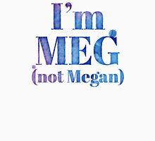 I'm MEG (NOT MEGAN!) Womens Fitted T-Shirt