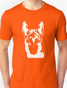 German Shepherd Black & White Stencil T-Shirt