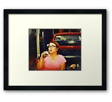 corona without a lemon (Trailer Park America Series) Framed Print