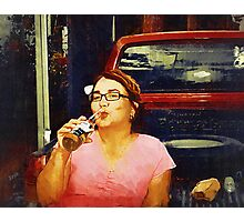 corona without a lemon (Trailer Park America Series) Photographic Print