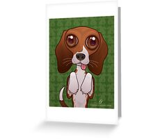 Brenya The Beagle Greeting Card