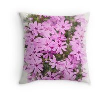 Phlox Flowers Watercolor Throw Pillow