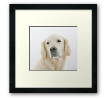 Ditte poses like a movie star from the 20's  Framed Print