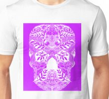 Mauve Skull Unisex T-Shirt