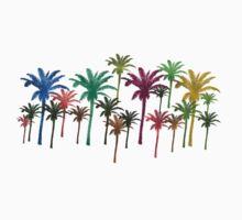 Tropical Palm Tree TShirt by simpsonvisuals