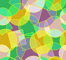 Stained glass colorful geometric mosaic pattern by Natalia Bykova