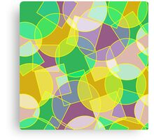 Stained glass colorful geometric mosaic pattern Canvas Print