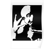 New Tupac Stencil Black And White Poster