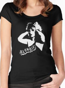 stencil Blondie Women's Fitted Scoop T-Shirt