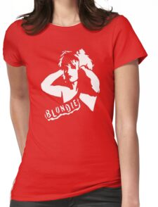 stencil Blondie Womens Fitted T-Shirt